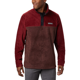 Columbia Steens Mountain Half Snap Pullover Heren, red lodge/red jasper/black